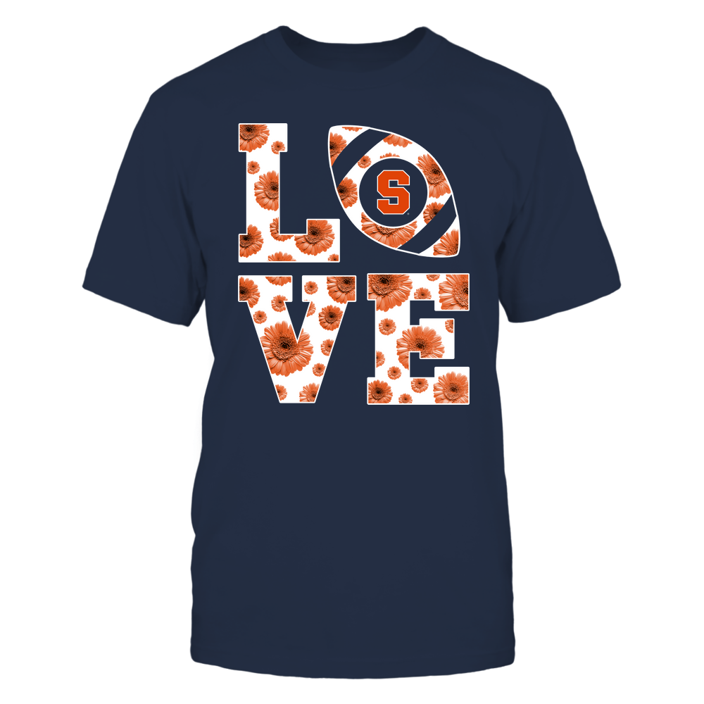 Syracuse Orange - Stacked - Love Football Daisy Pattern - Team Front picture