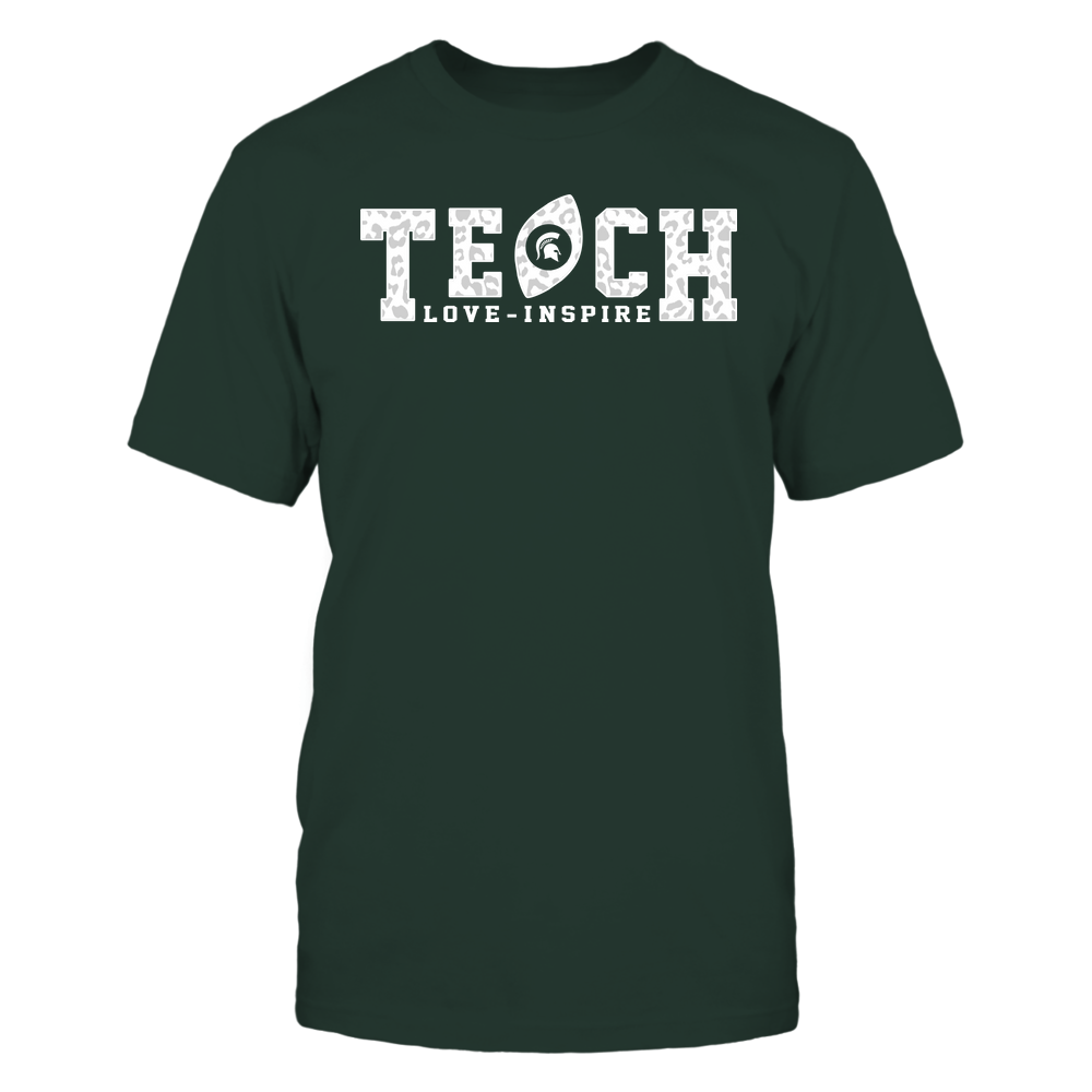 Michigan State Spartans - Teach Love Inspire - Leopard Football - Team Front picture