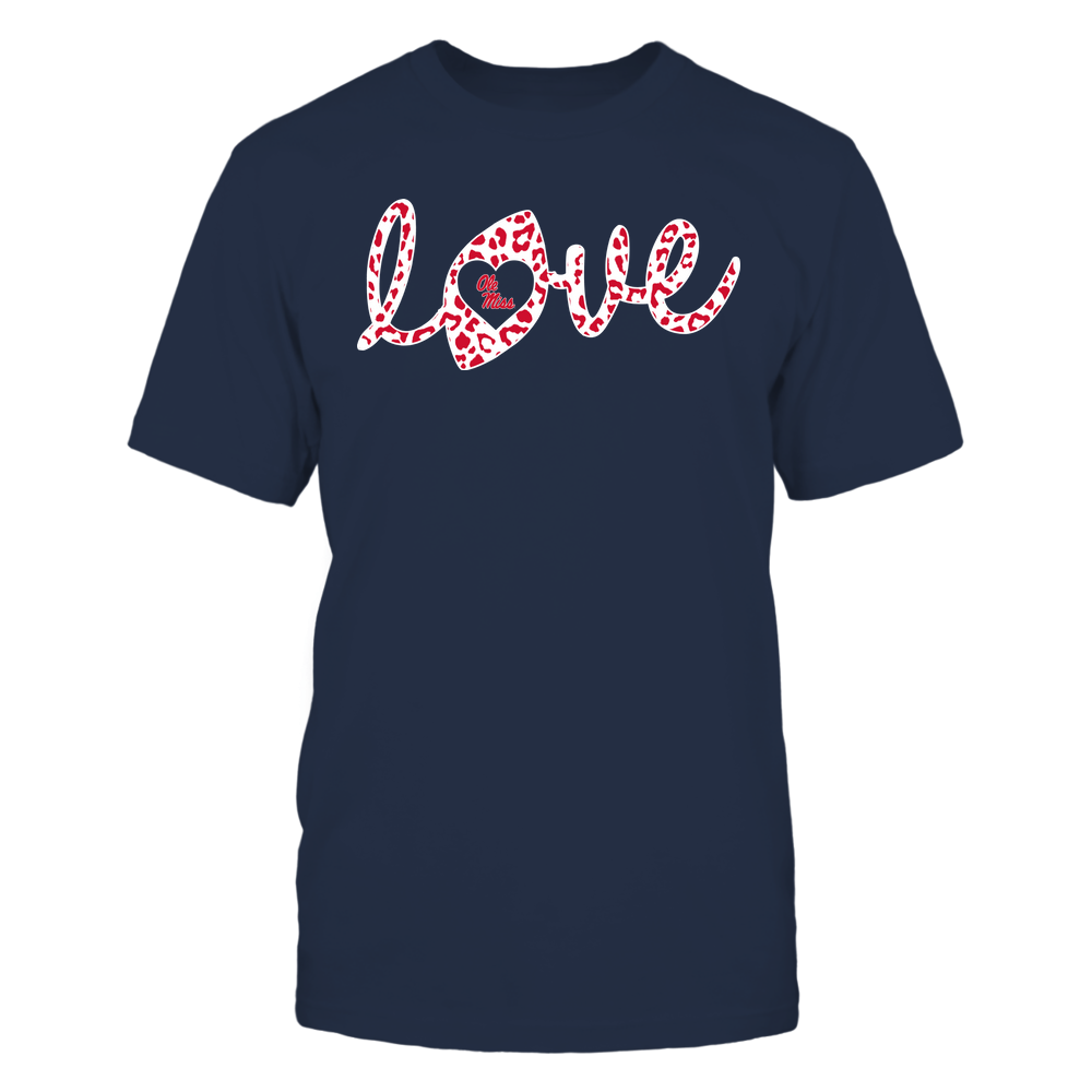 Ole Miss Rebels - Football - Love Lowercase - Leopard Pattern Front picture