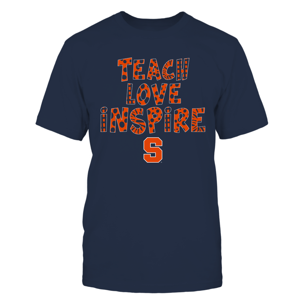 Syracuse Orange - Teacher - Teach Love Inspire - Doodle Pattern Front picture