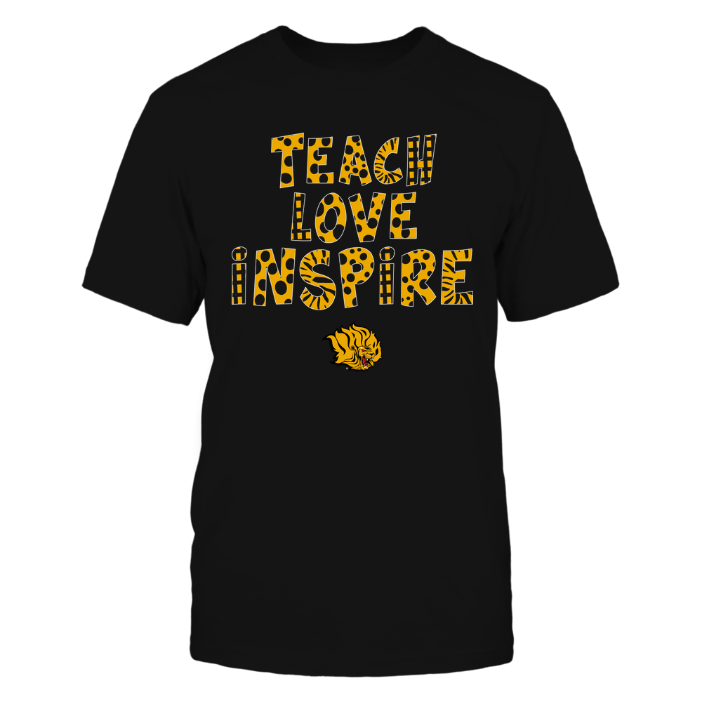 Arkansas Pine Bluff Golden Lions - Teacher - Teach Love Inspire - Doodle Pattern Front picture