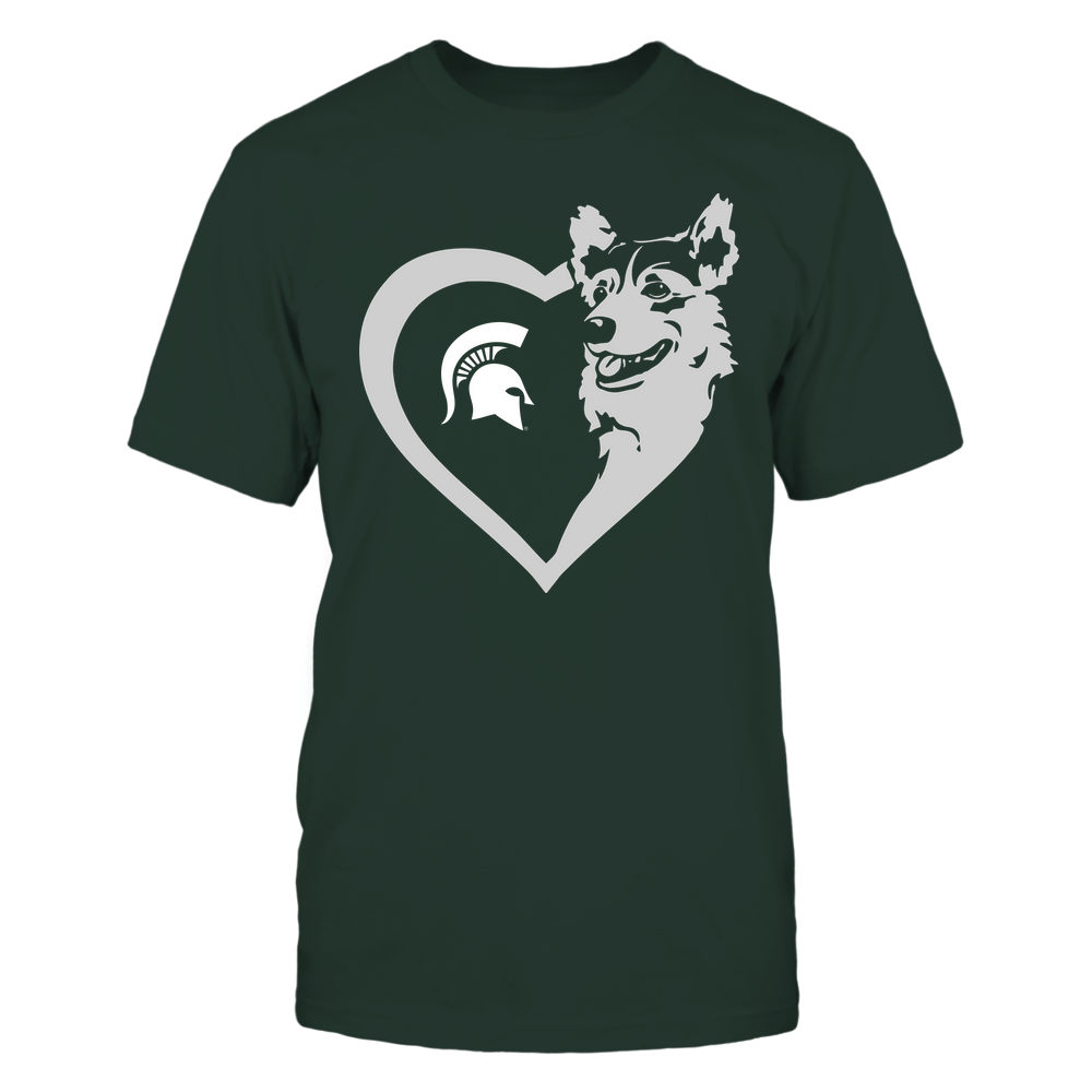 Michigan State Spartans - Dogs - Corgi Heart - Team Front picture