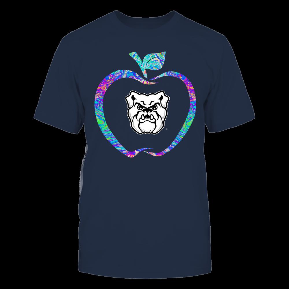 Butler Bulldogs - Teacher - Apple Outline Rainbow Swirl - Team Front picture