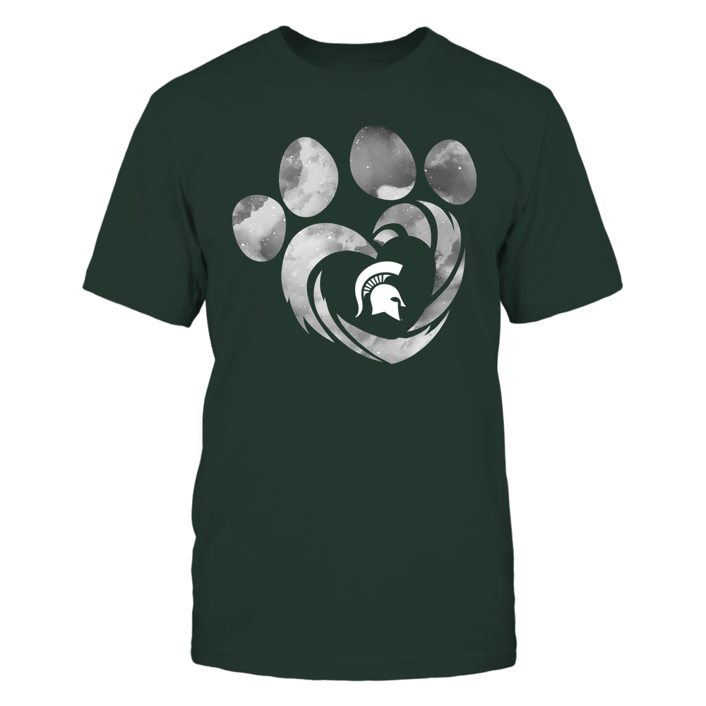 Michigan State Spartans - Galaxy Hurricane - Paw Heart - Team Front picture