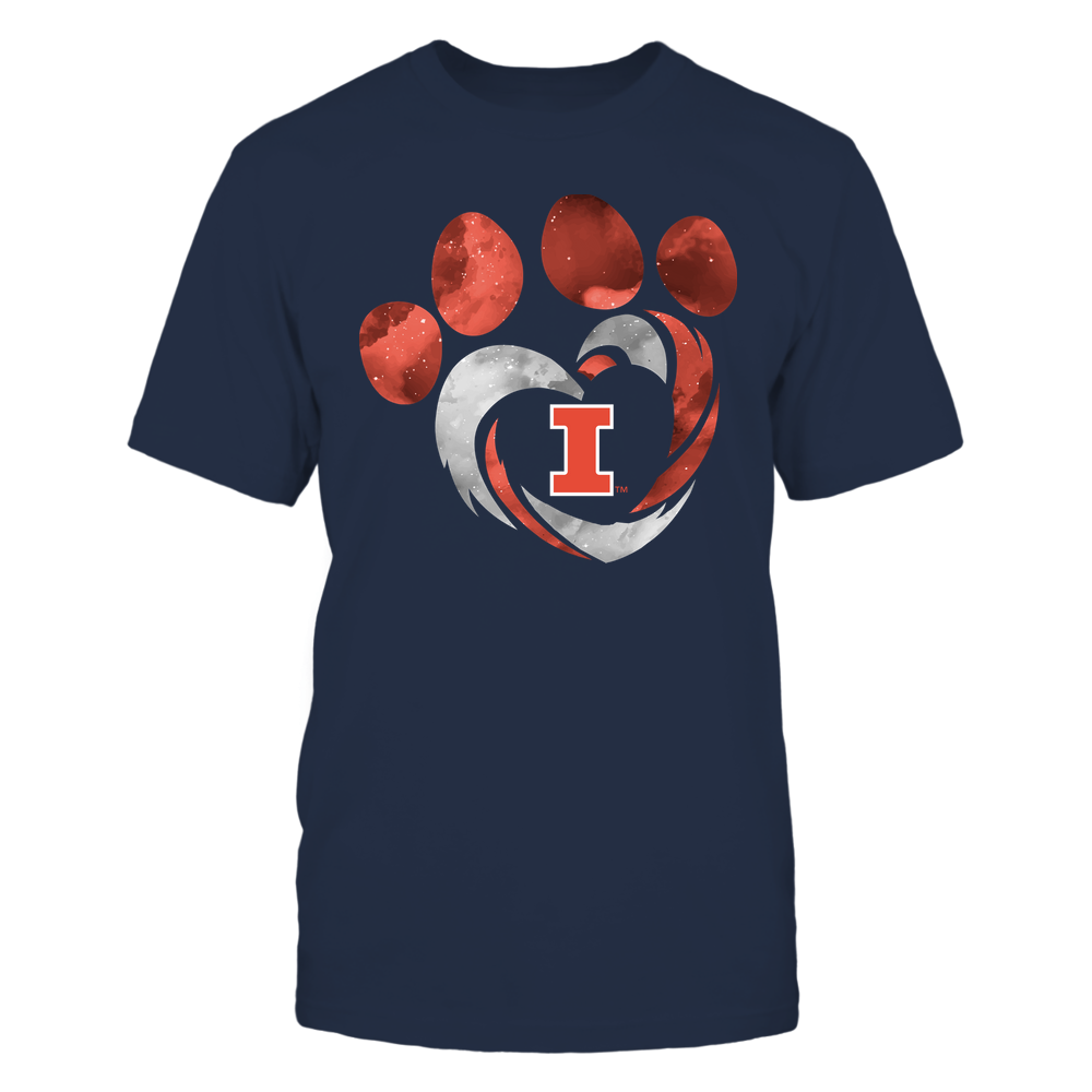Illinois Fighting Illini - Galaxy Hurricane - Paw Heart - Team Front picture