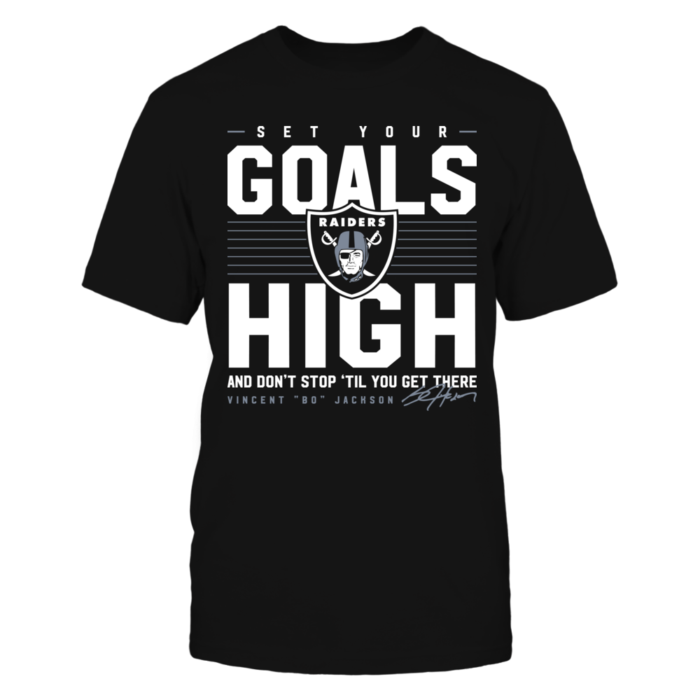 Oakland Raiders - Set Your Goals High - Bo Jackson Front picture