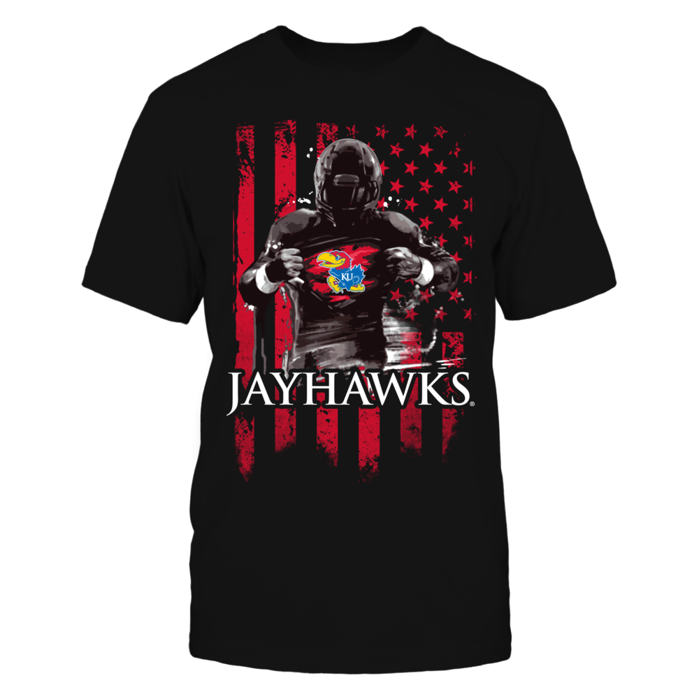 Player Flag - Kansas Jayhawks Front picture