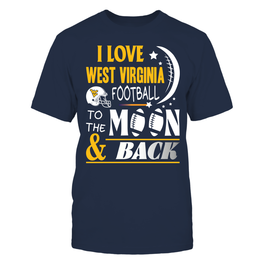 West Virginia Mountaineers - moon Front picture