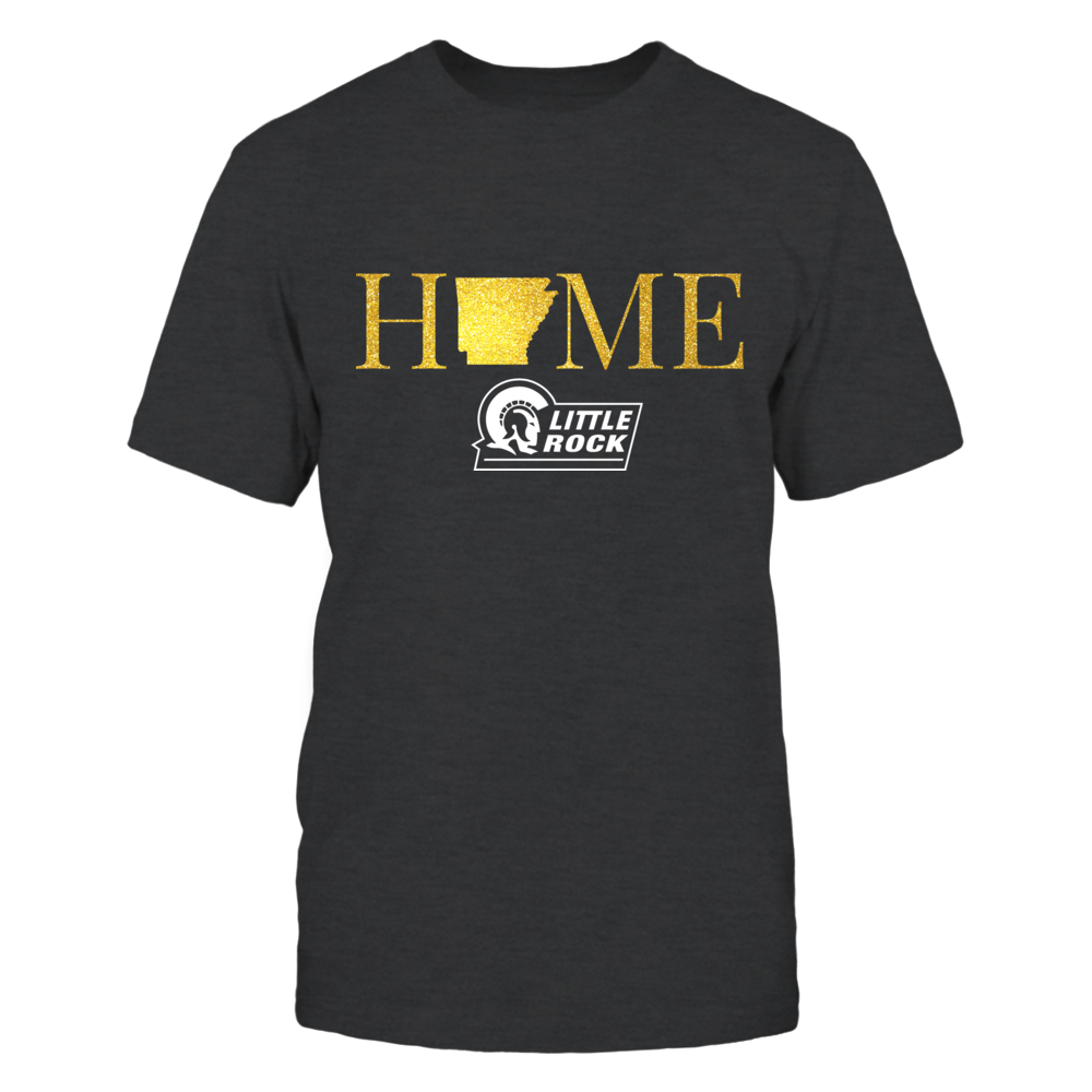 Arkansas Little Rock Trojans Arkansas Home in Glittering Gold - Arkansas Little Rock Trojans FanPrint