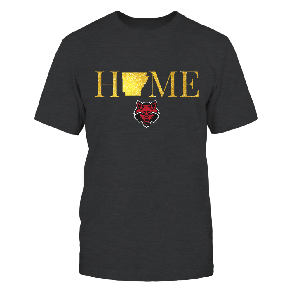 Arkansas Home in Glittering Gold - Arkansas State Red Wolves Front picture