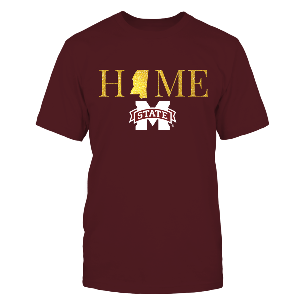 Mississippi Home in Shiny Gold - Mississippi State Bulldogs Front picture