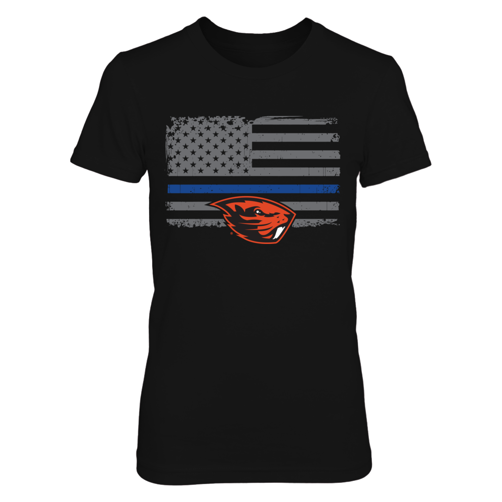 Oregon State Beavers Oregon State Beavers - Thin Blue Line FanPrint