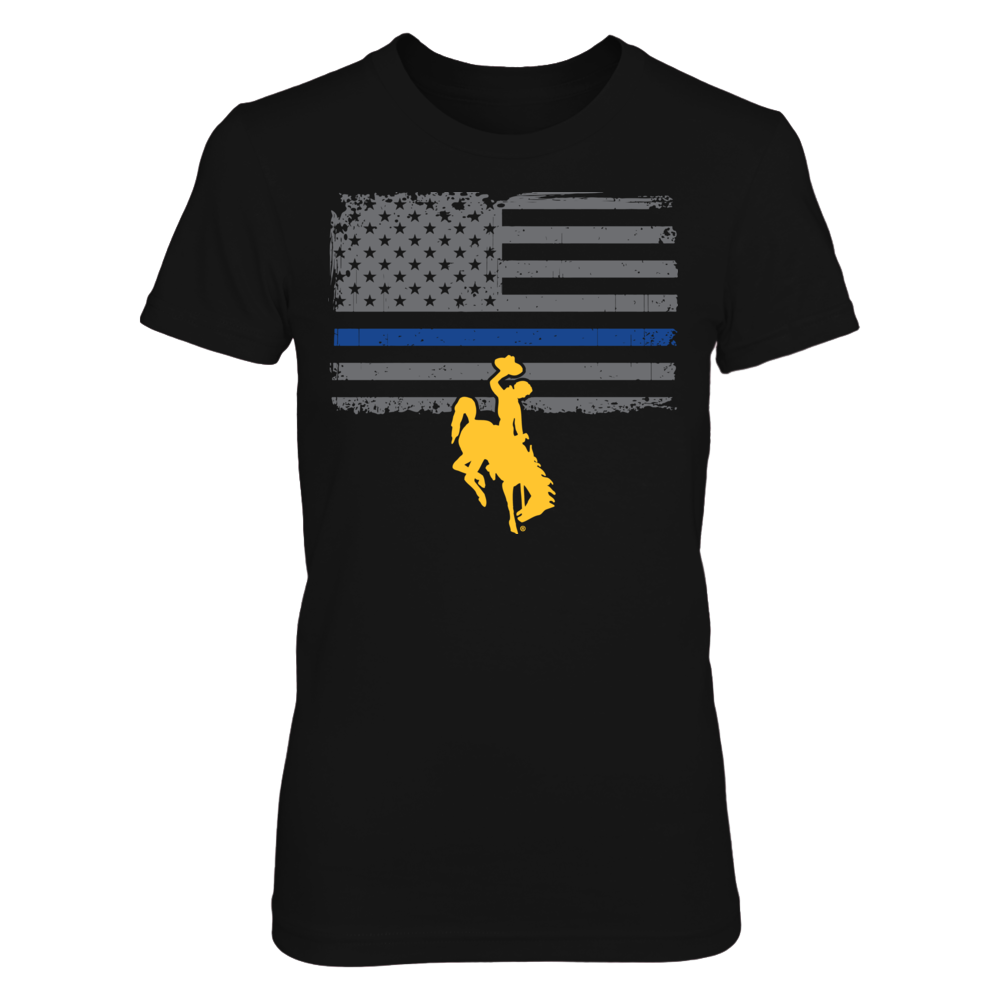 Wyoming Cowboys - Thin Blue Line Front picture