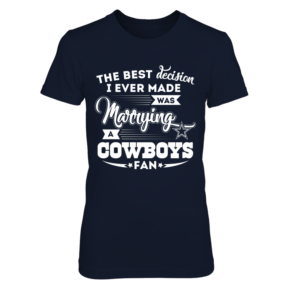 Dallas Cowboys - Marrying a Cowboys fan Front picture