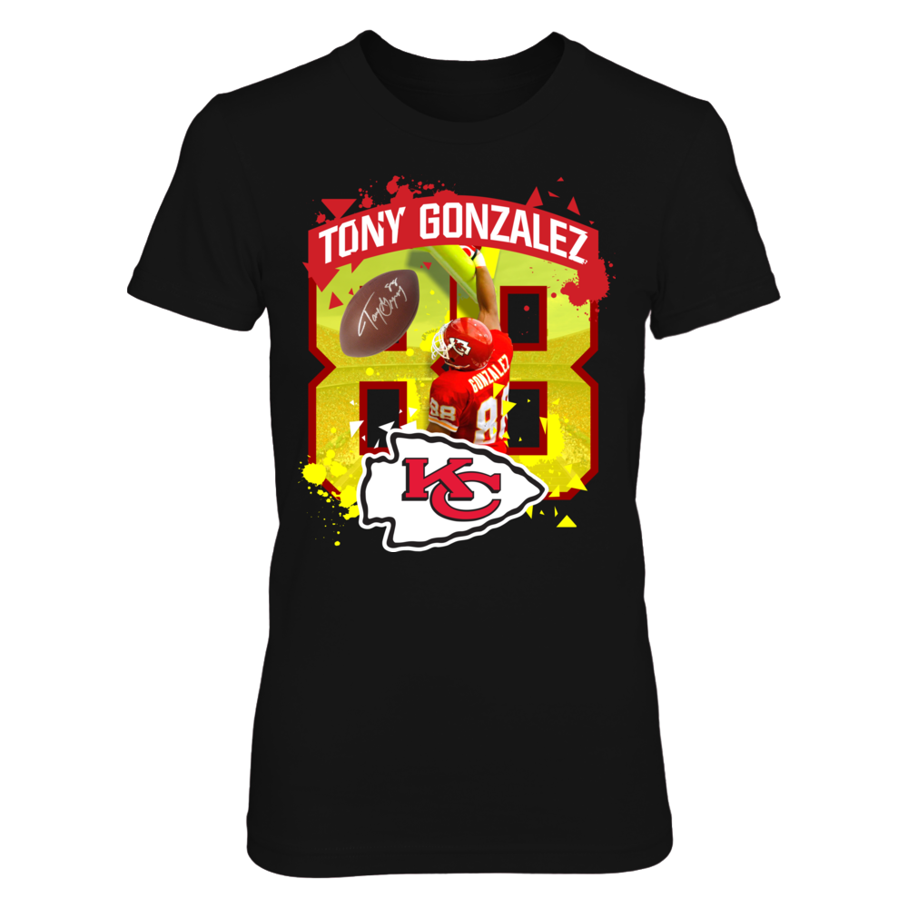 Tony Gonazlez Post Slam NFL Legends Officially Licensed Shirts and More! Front picture
