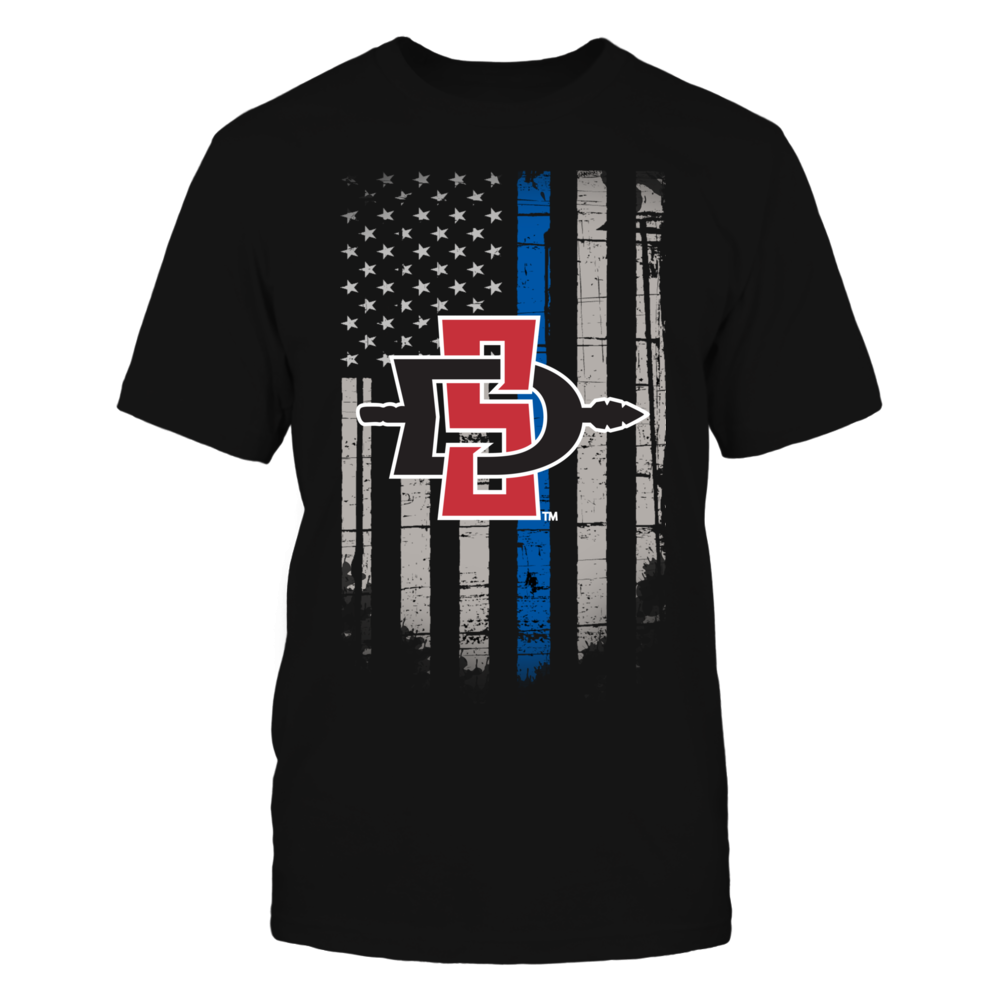 Thin Blue Line - San Diego State Aztecs Front picture