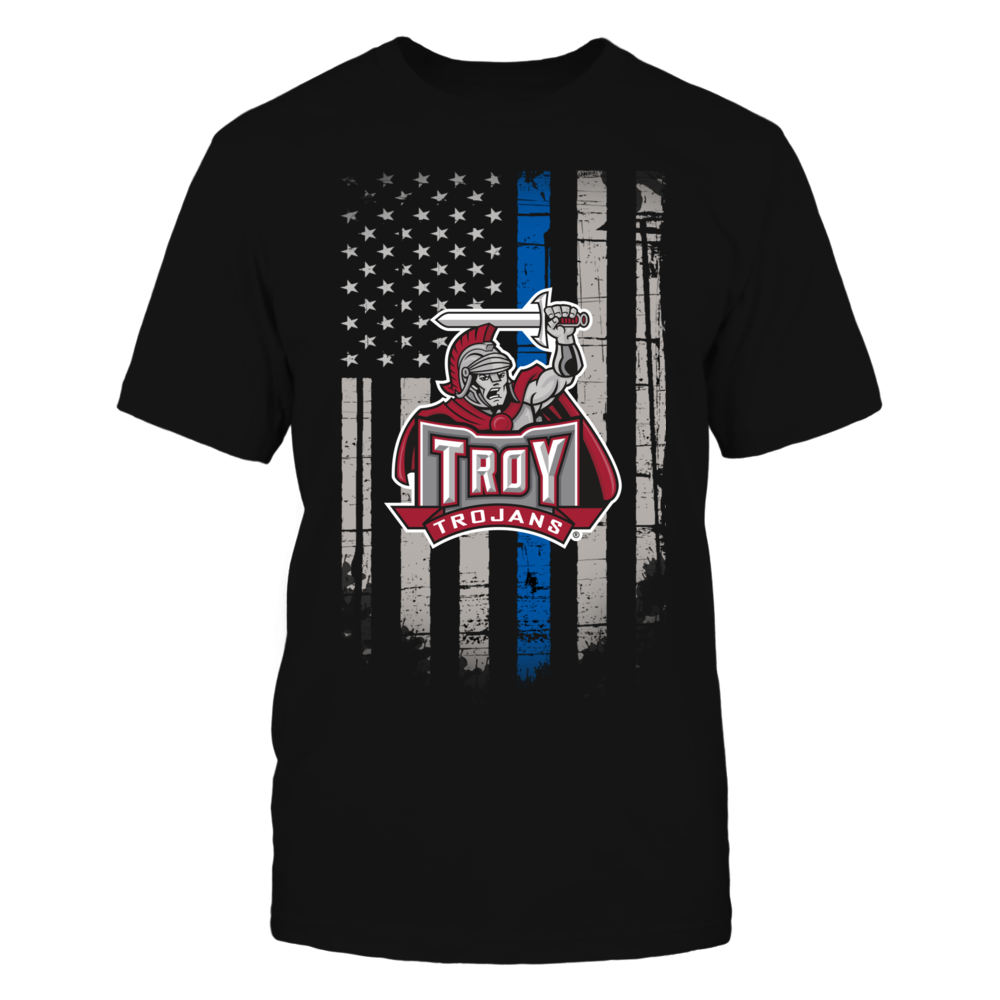 Thin Blue Line - Troy Trojans Front picture