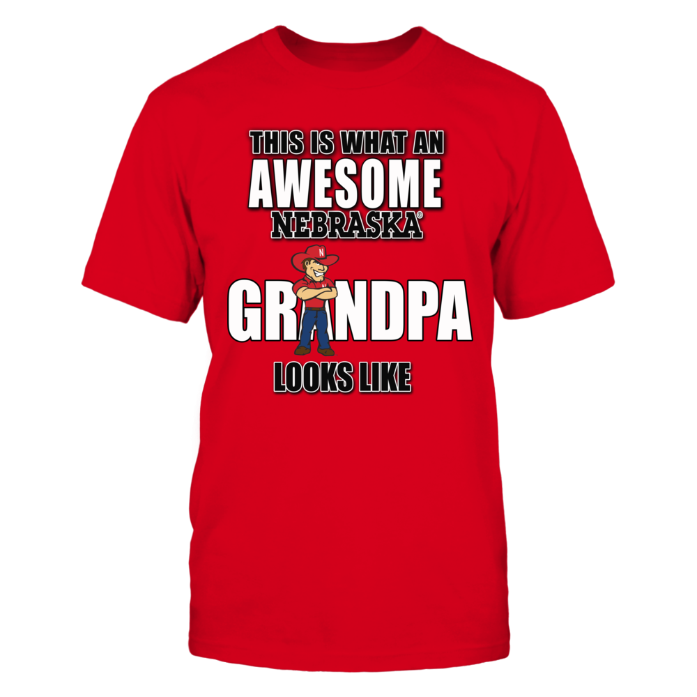 Awesome Grandpa Shirt for the Ultimate Nebraska Cornhusker Grandfather Front picture