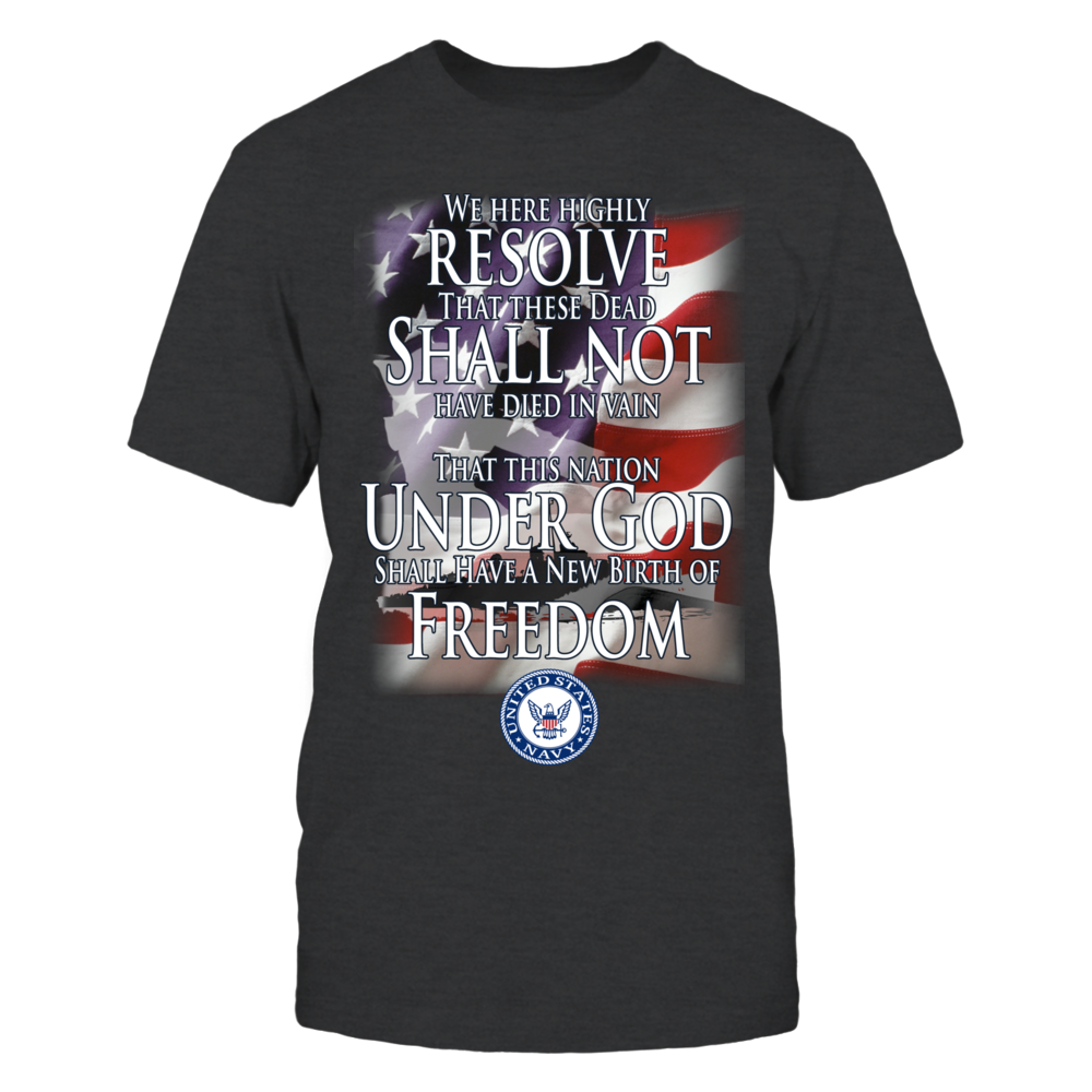 Military Quotes Shirt featuring the US Navy- Support the Navy with this Patriotic Military Shirt Front picture