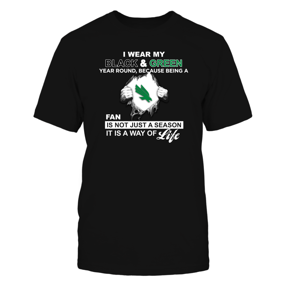 Wear My Colors - North Texas Mean Green Front picture