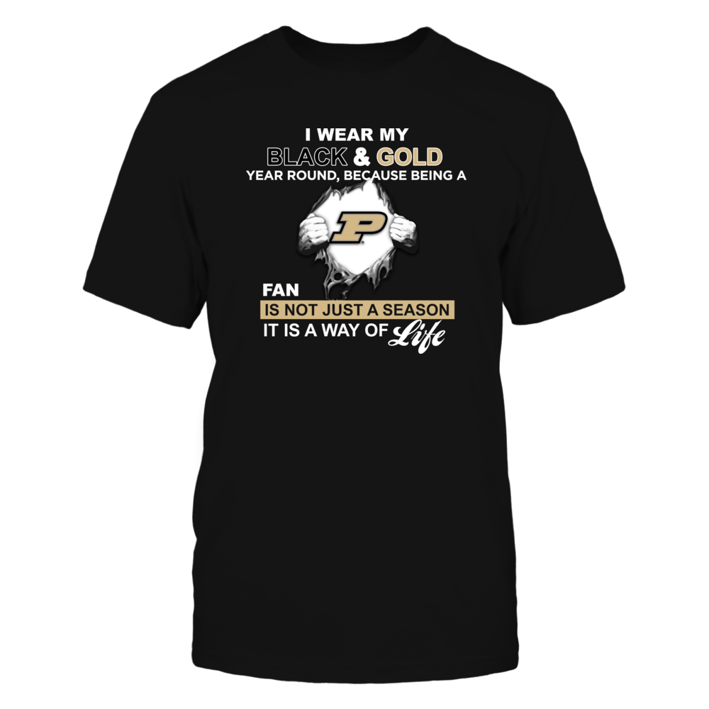 Wear My Colors - Purdue Boilermakers Front picture