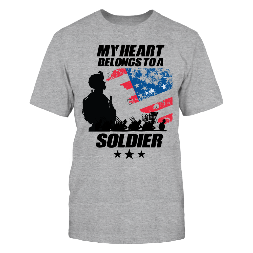 TShirt Hoodie My Heart Belongs to a Soldier T-Shirt FanPrint