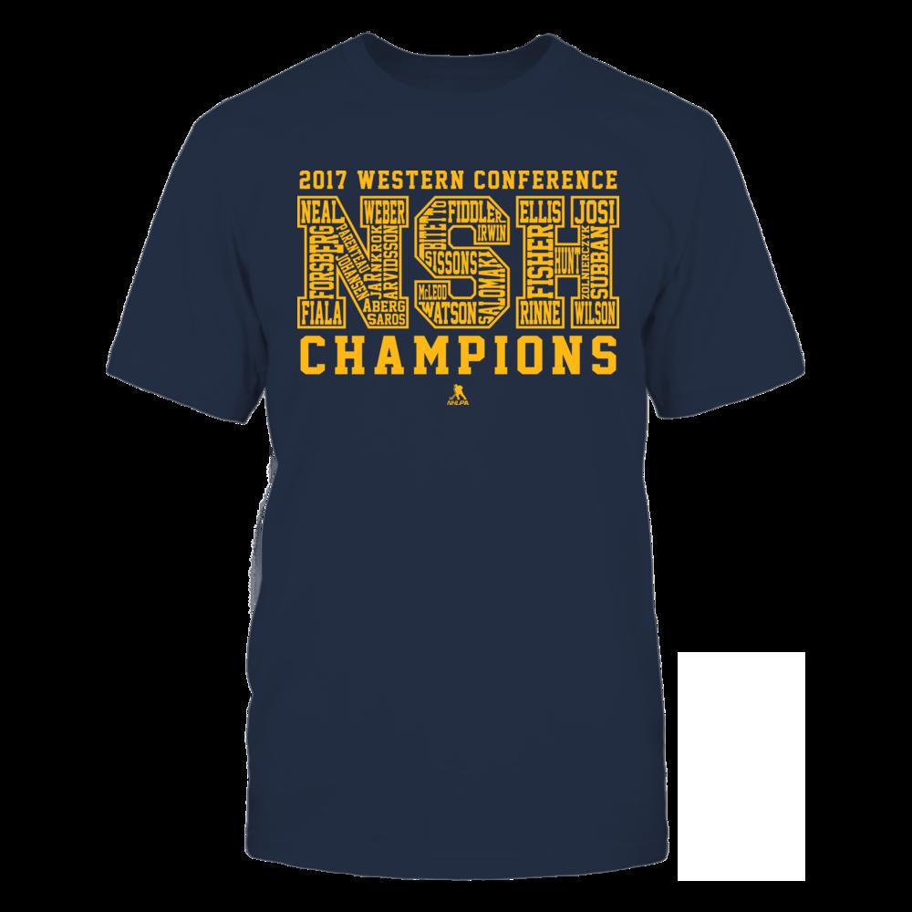 Nashville - Bubble Letters 2017 Western Conference Champs Front picture