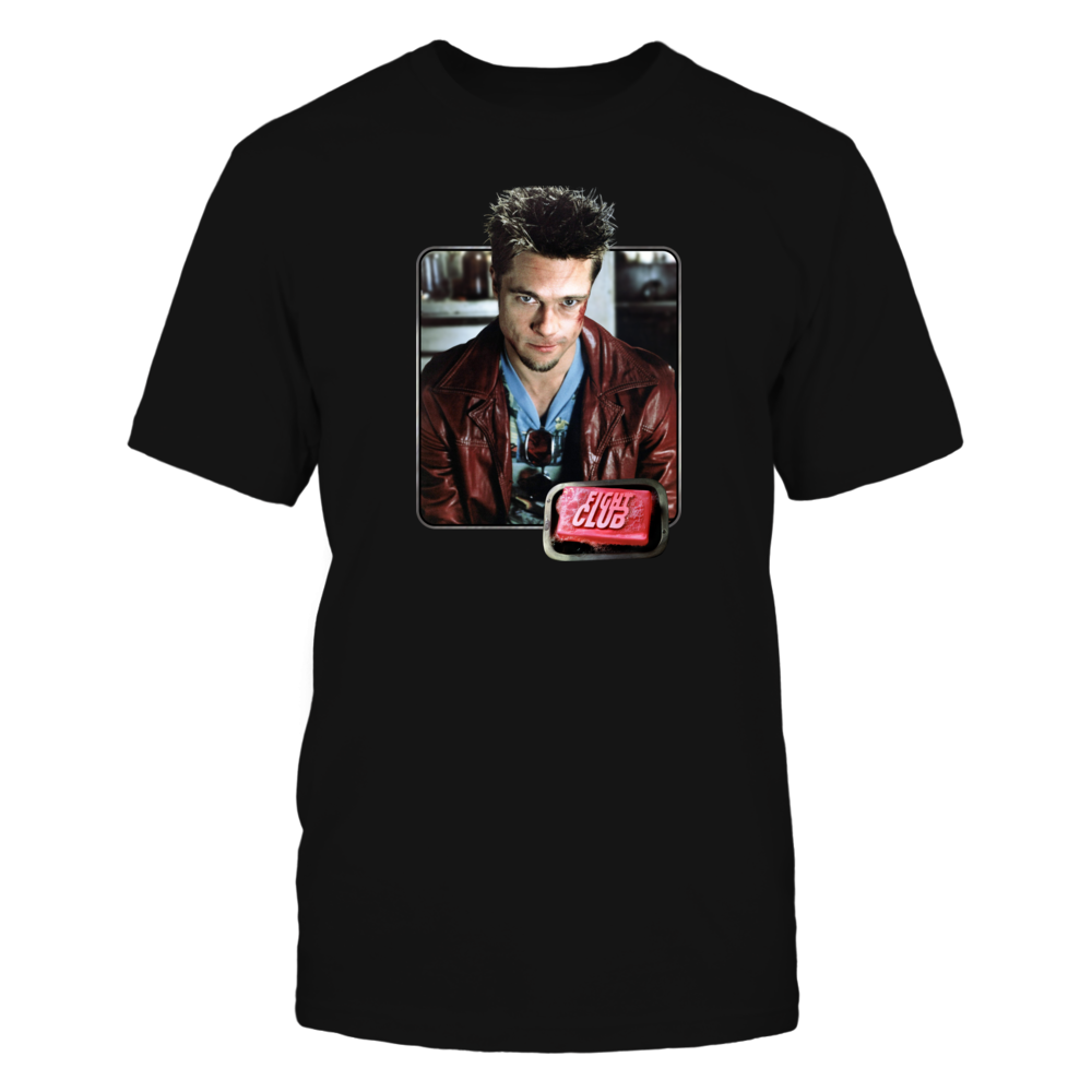 Fight Club Tyler Durden Iron-On Look Throwback Front picture