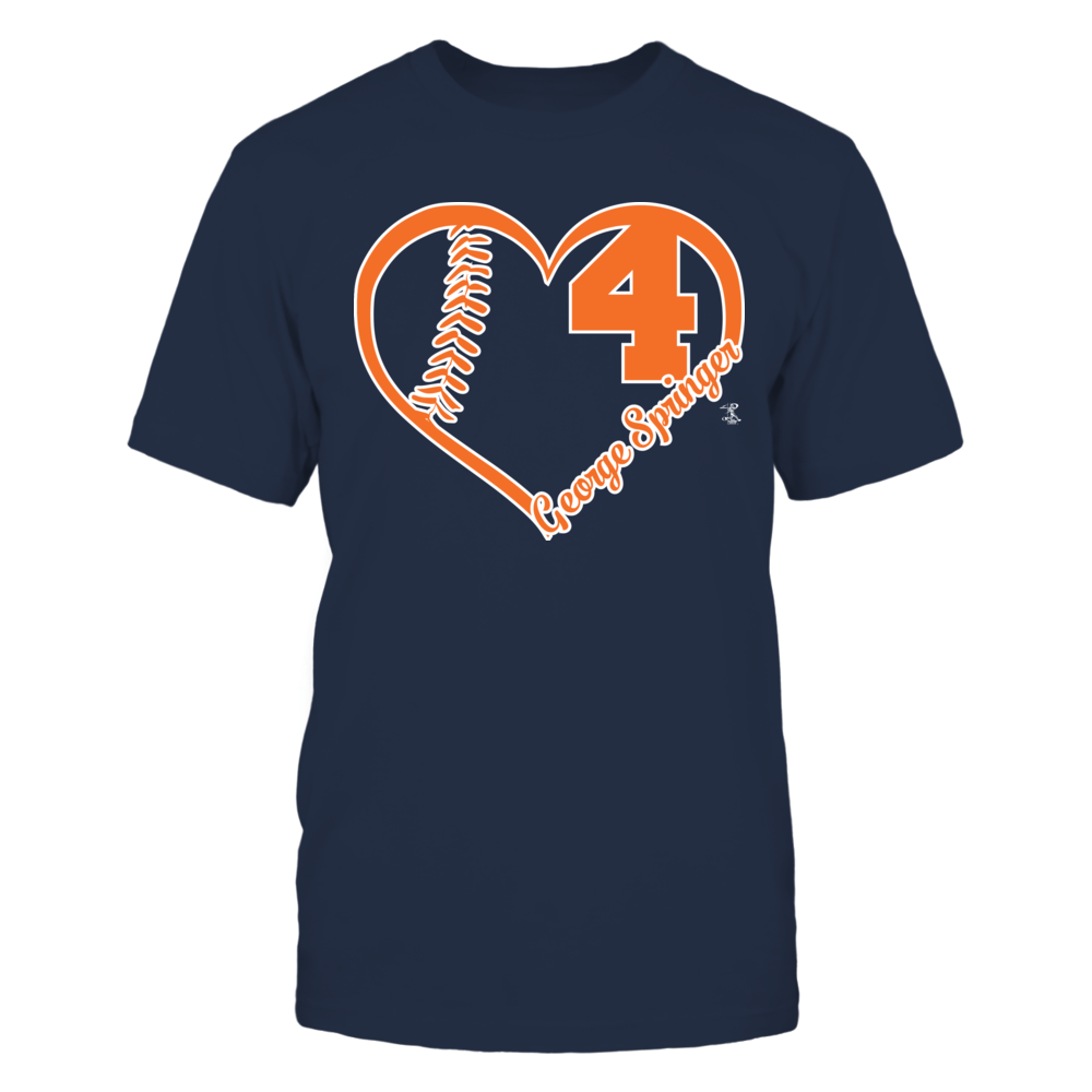 George Springer George Springer - Heart Number FanPrint