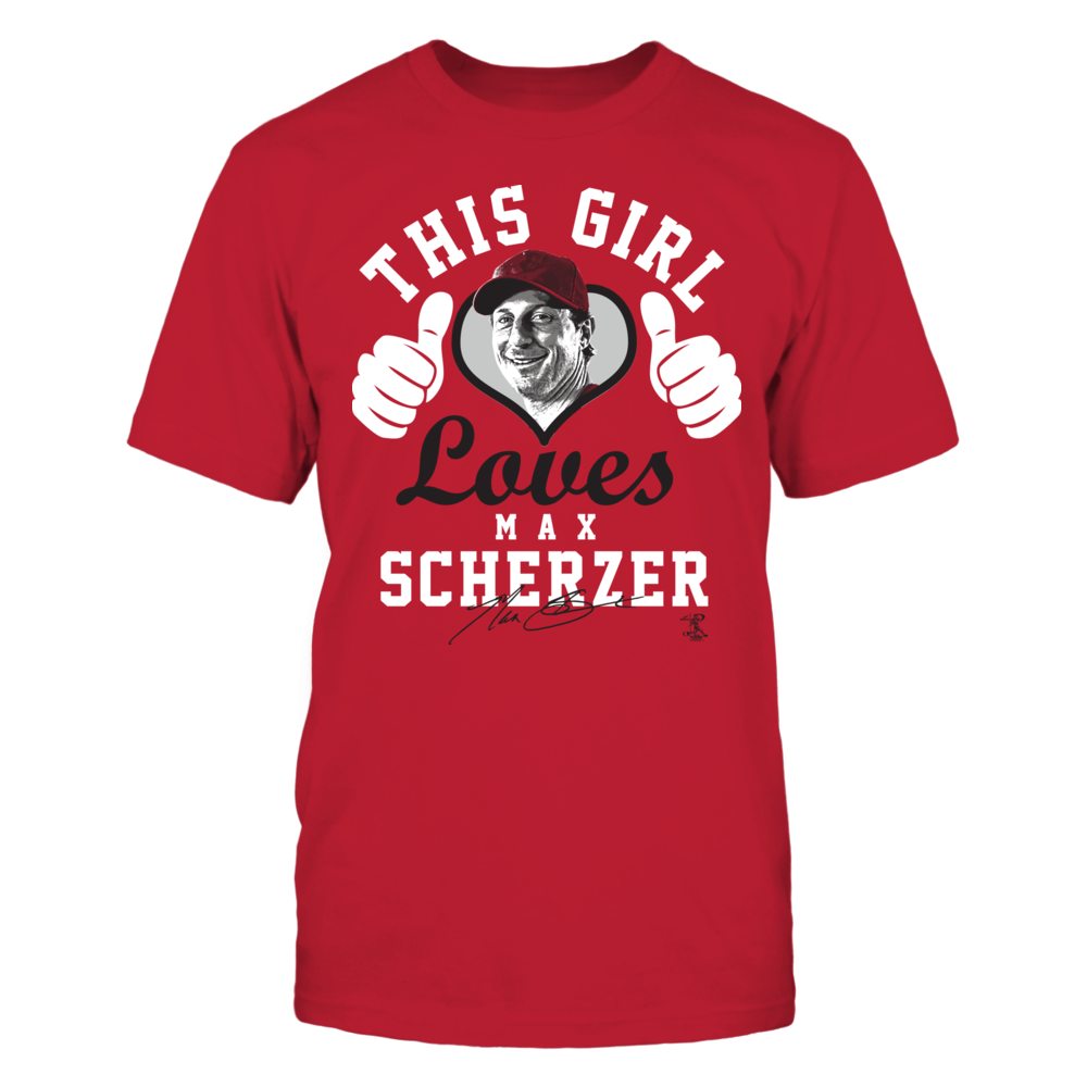 Max Scherzer - This Girl Loves W. Thumbs Front picture