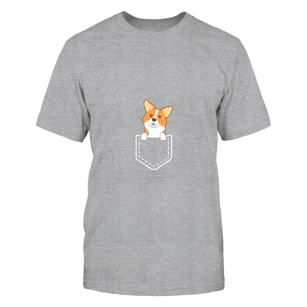TShirt Hoodie Corgi Pocket Graphic Tee FanPrint