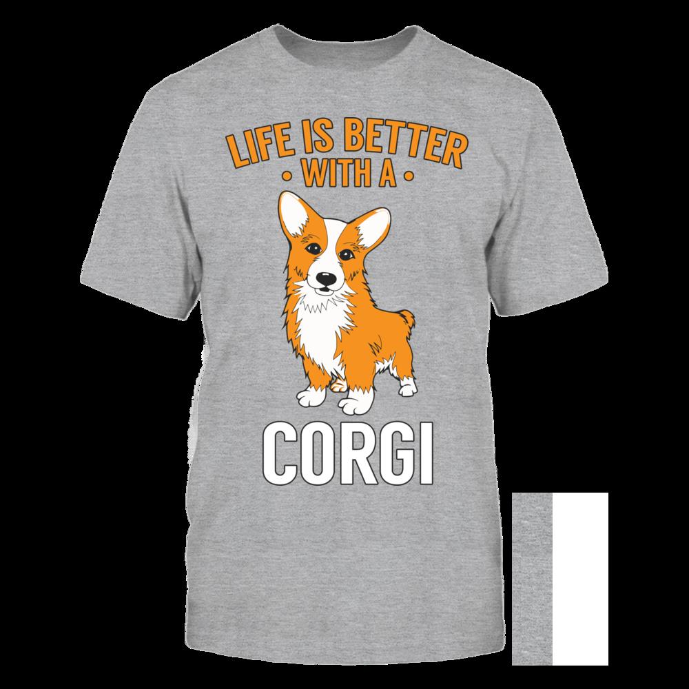 TShirt Hoodie Life is Better With A Corgi FanPrint