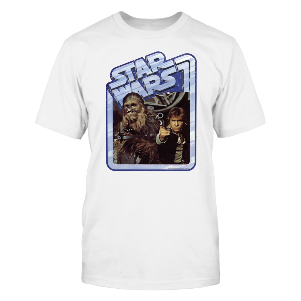 Star Wars Old School Han Solo & Chewie  Vintage T-shirt Front picture