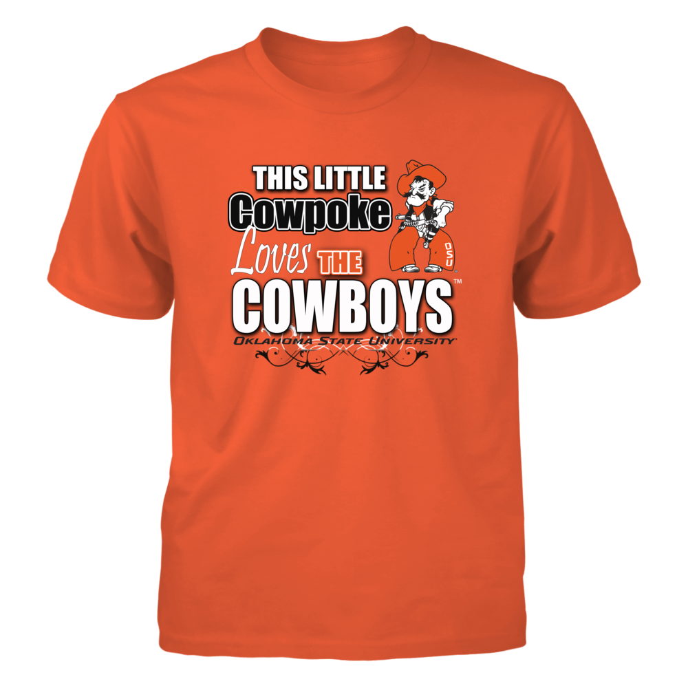 Oklahoma State Cowboys This Little Cowpoke Loves the Oklahoma State Cowboys FanPrint