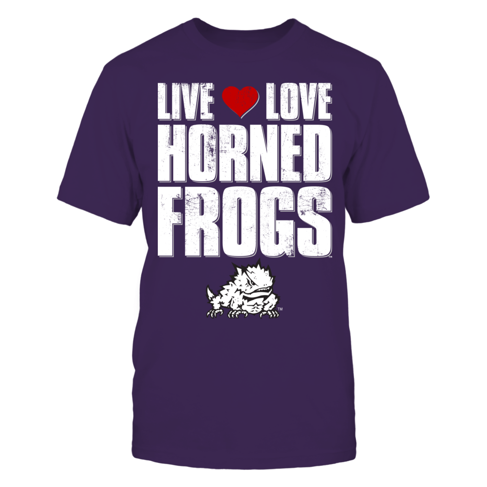 Live Love Horned Frogs - TCU Front picture