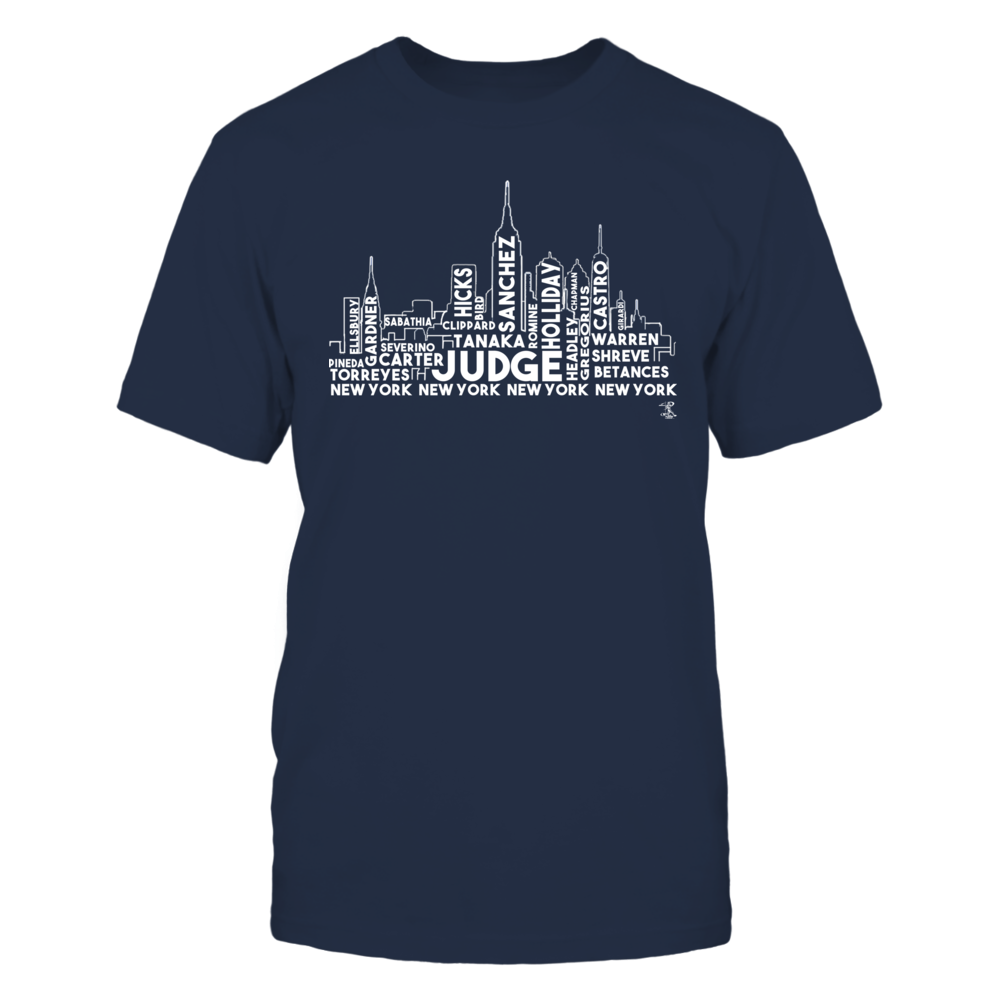 Aaron Judge New York Skyline - Great Father's Day Gift FanPrint