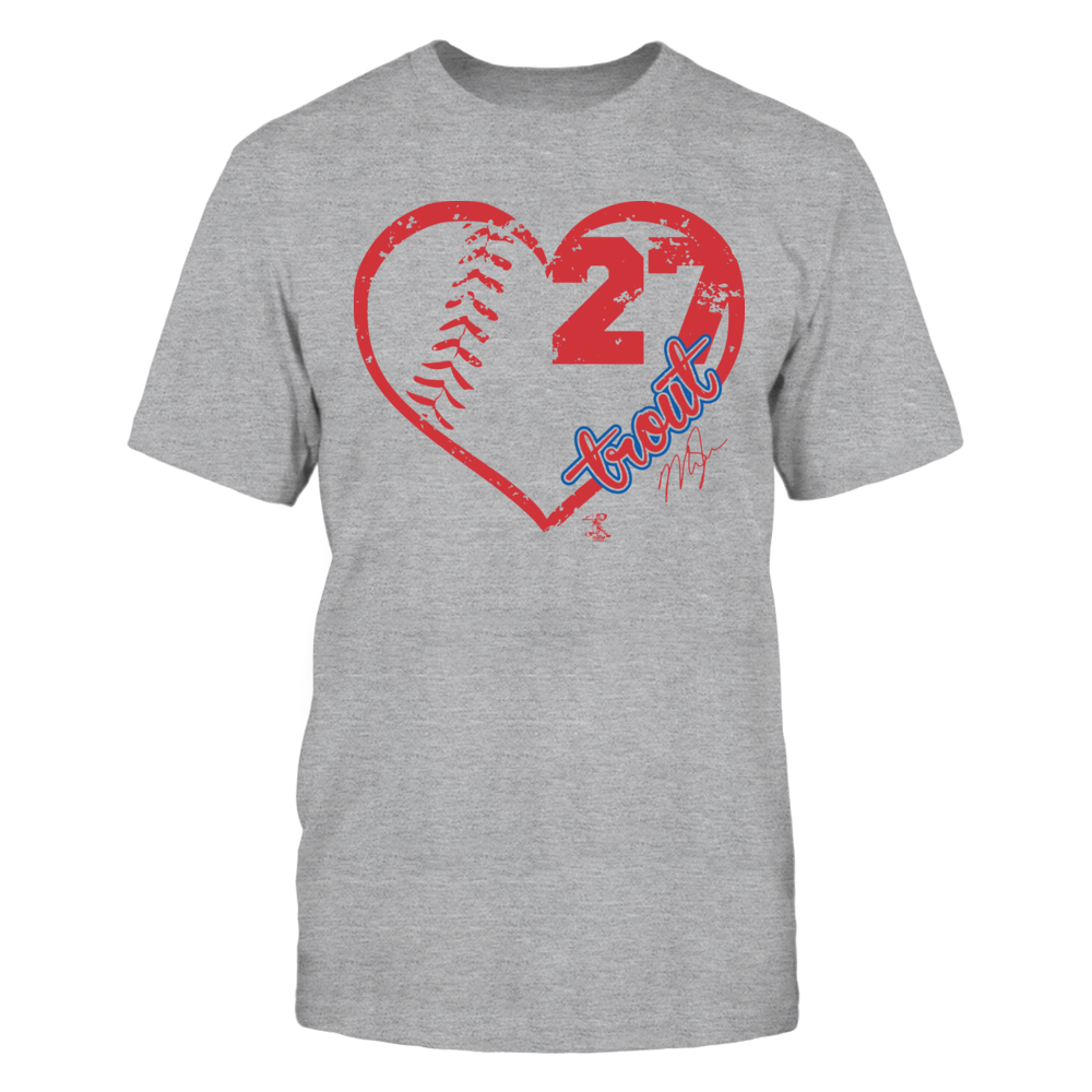 Mike Trout Mike Trout - Heart Team FanPrint