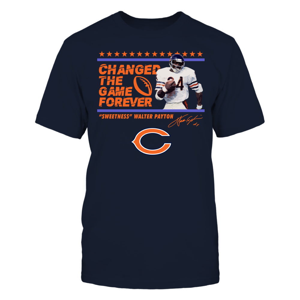 Changed the Game - Sweetness Walter Payton Officially Licensed Shirts and More! Front picture