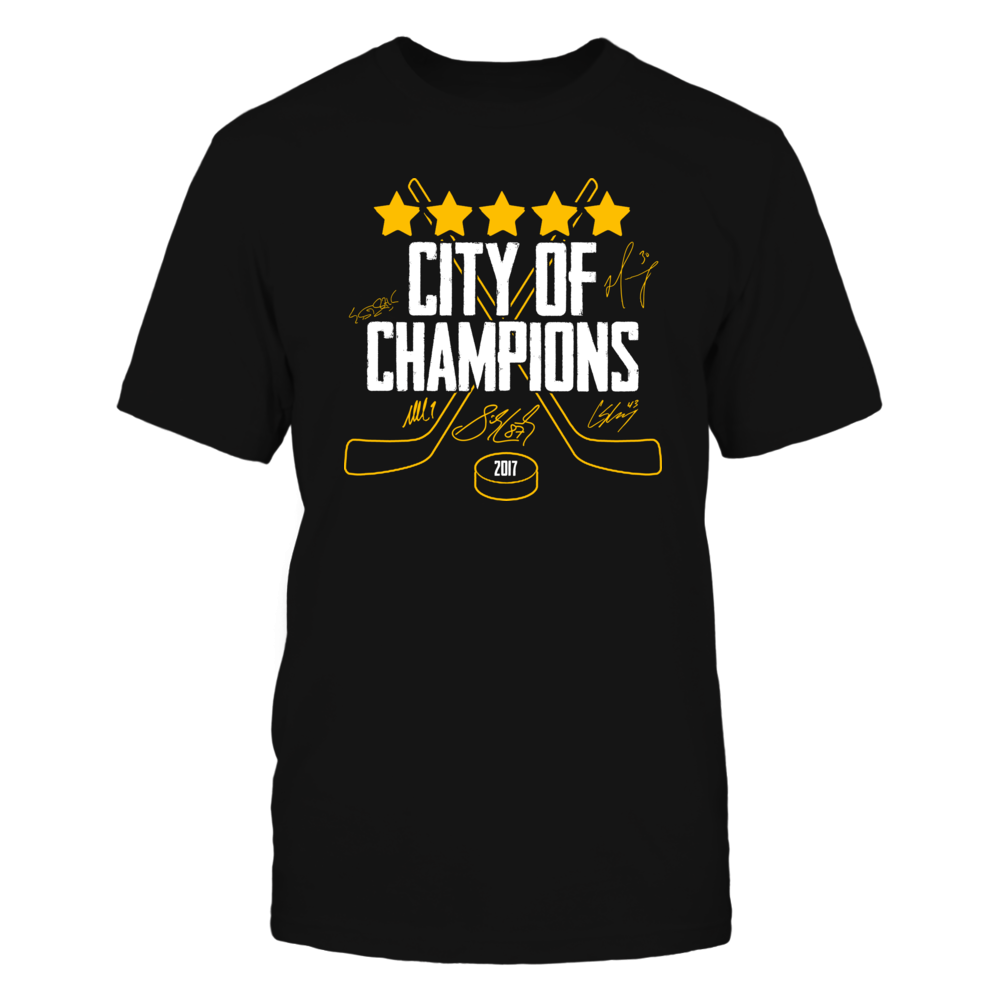 City of Champions - 2017 - Kessel - Corsby - Malkin - Murray - Sheary - Cullen Front picture