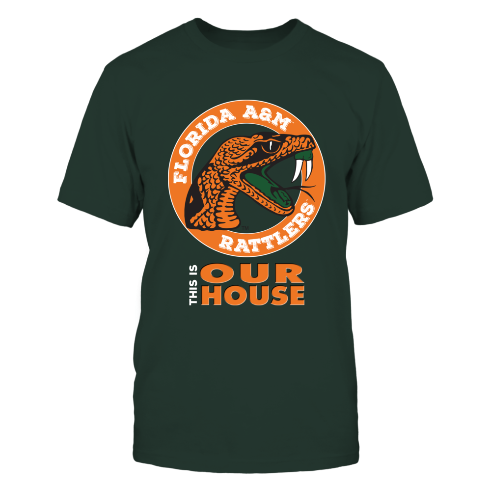 Florida A&M This is Our House T-Shirt DKLTGRNLTGY Front picture