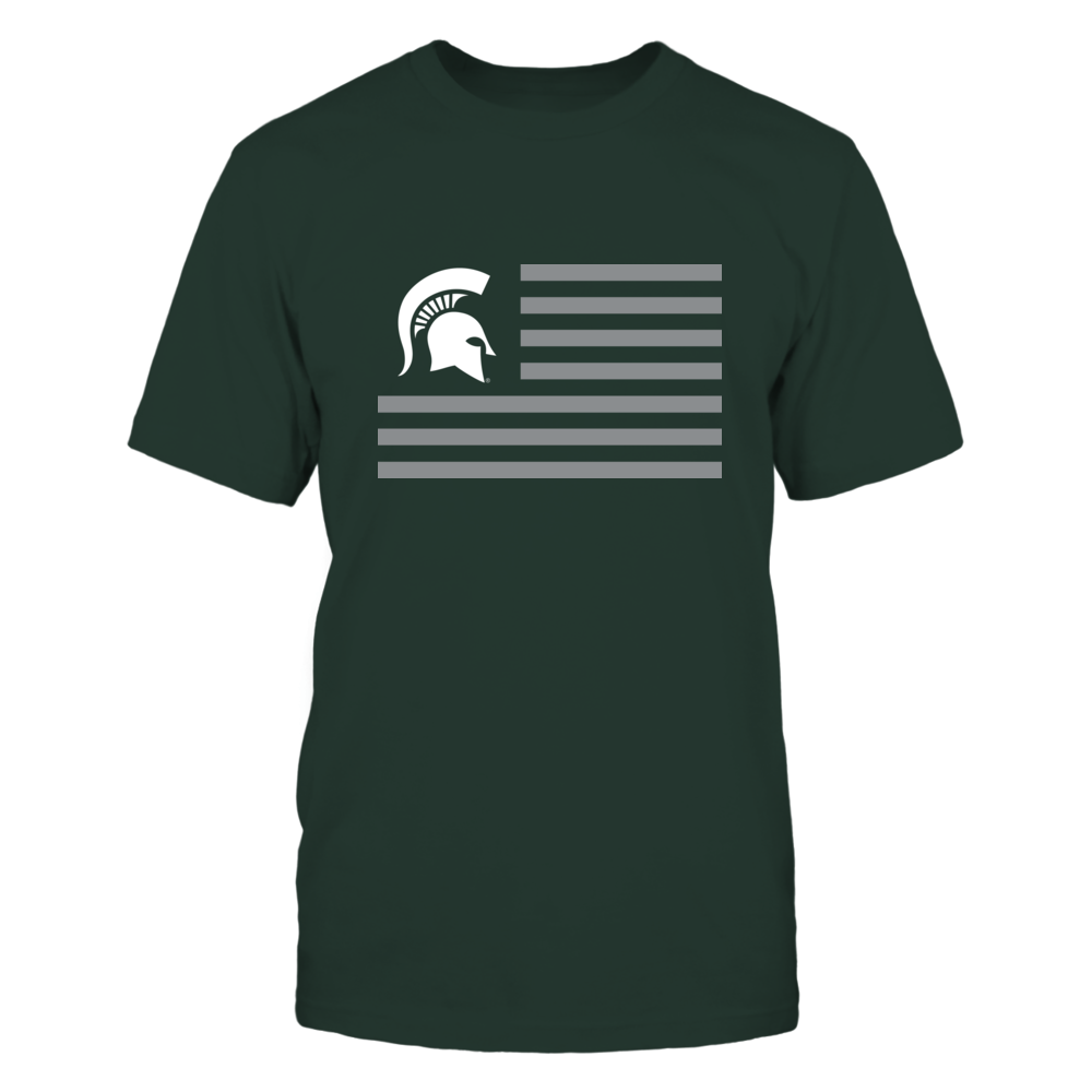 MICHIGAN STATE & STRIPES - MICHIGAN STATE SPARTANS Front picture