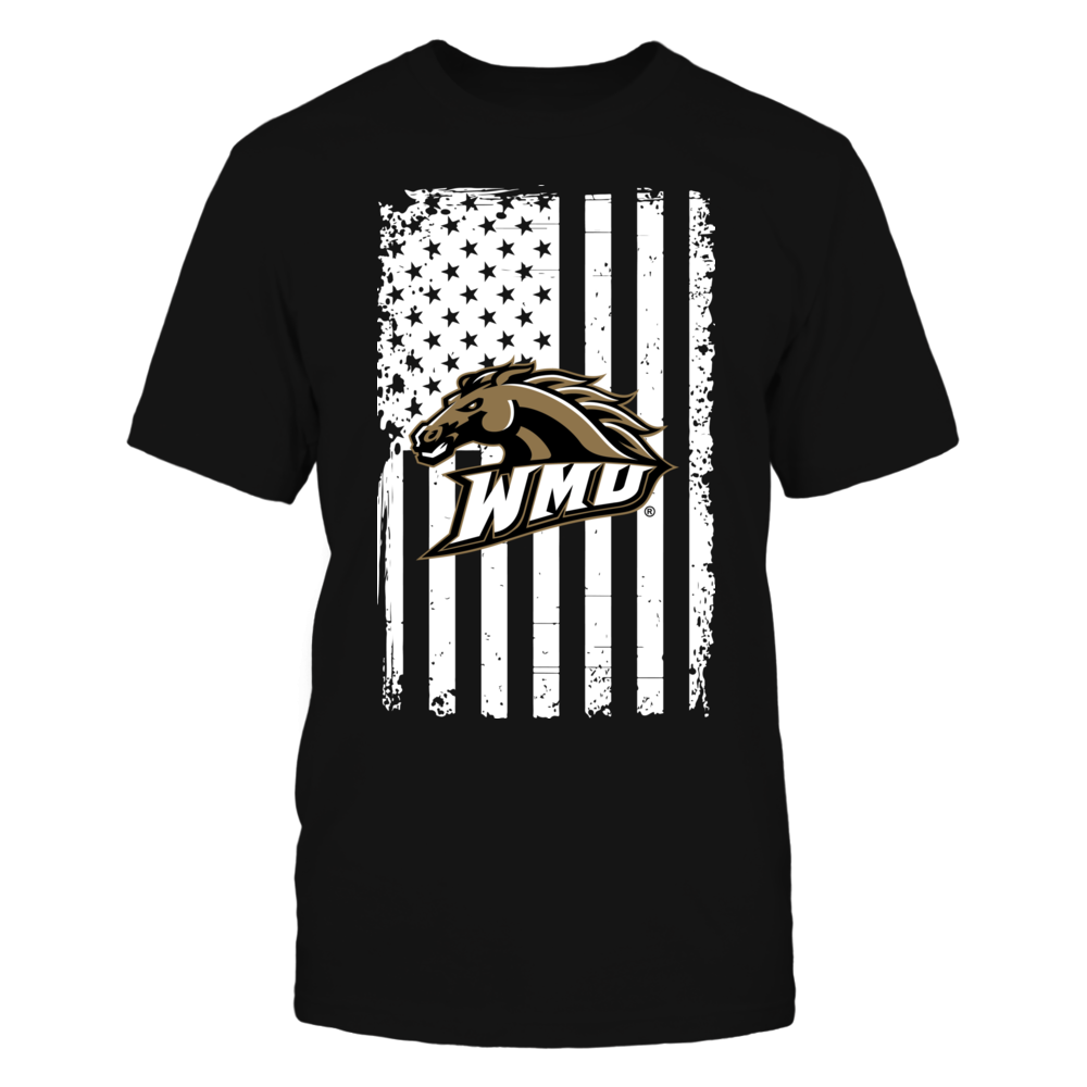 Western Michigan Broncos - Flag Pride Front picture