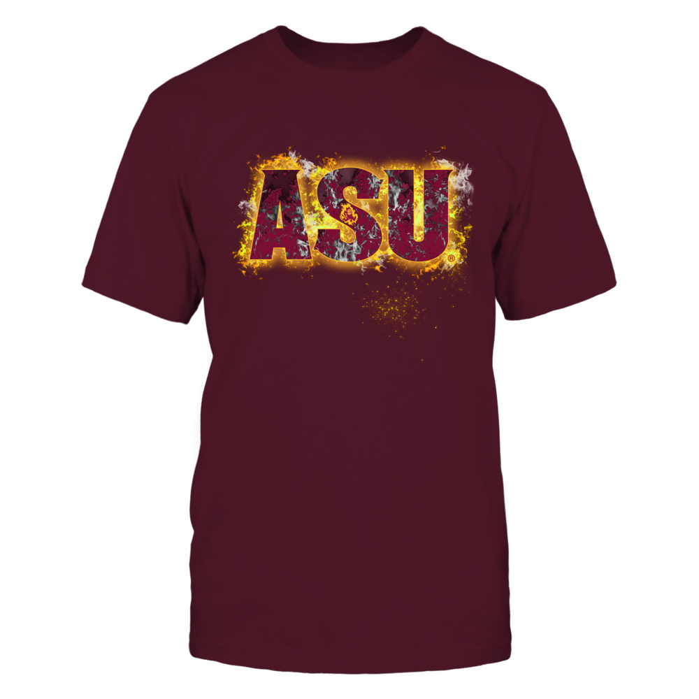 Arizona State Sun Devils - Fire text Front picture