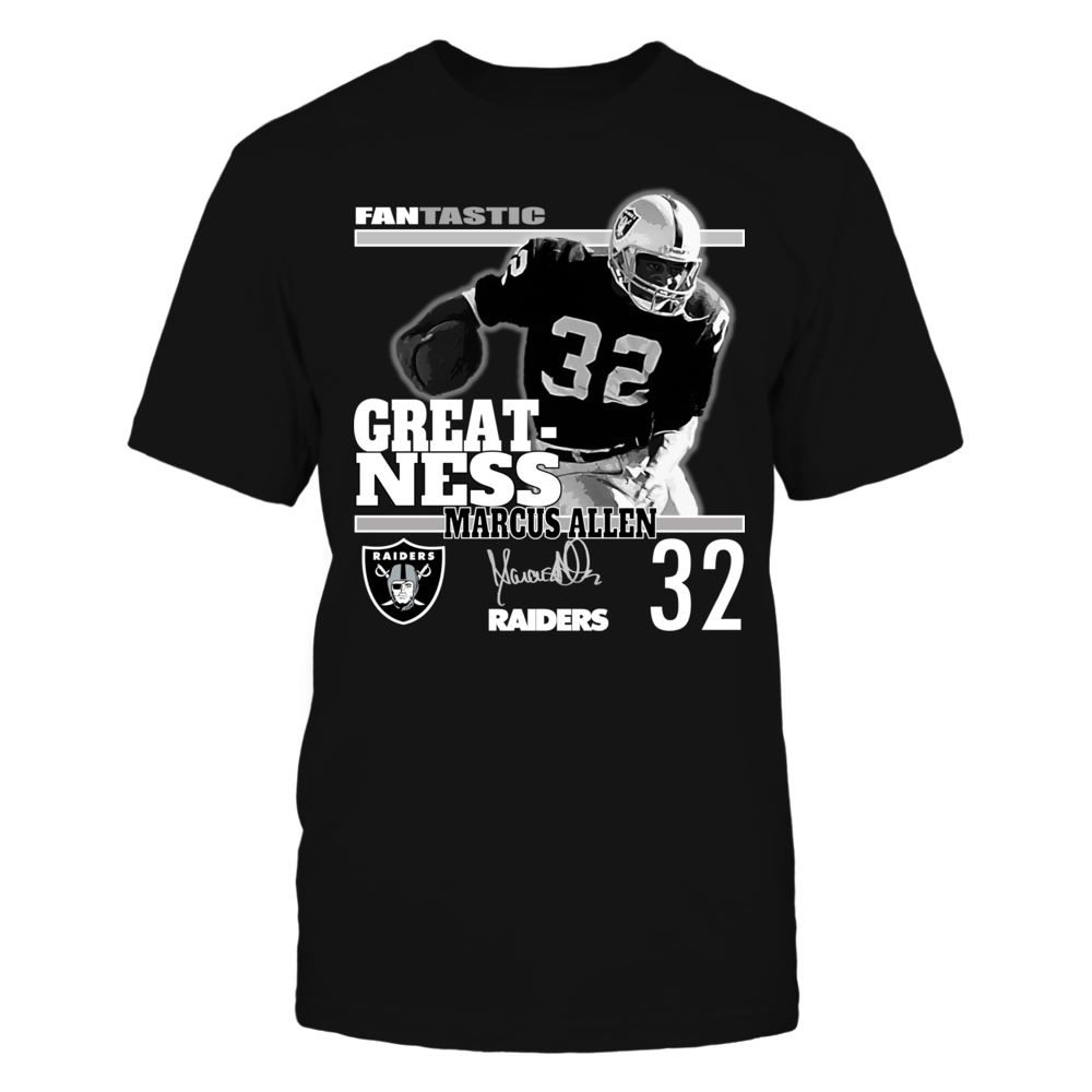 OFFICIAL NFL RAIDERS #32 MARCUS ALLEN - GREATNESS  Shirts and more Front picture