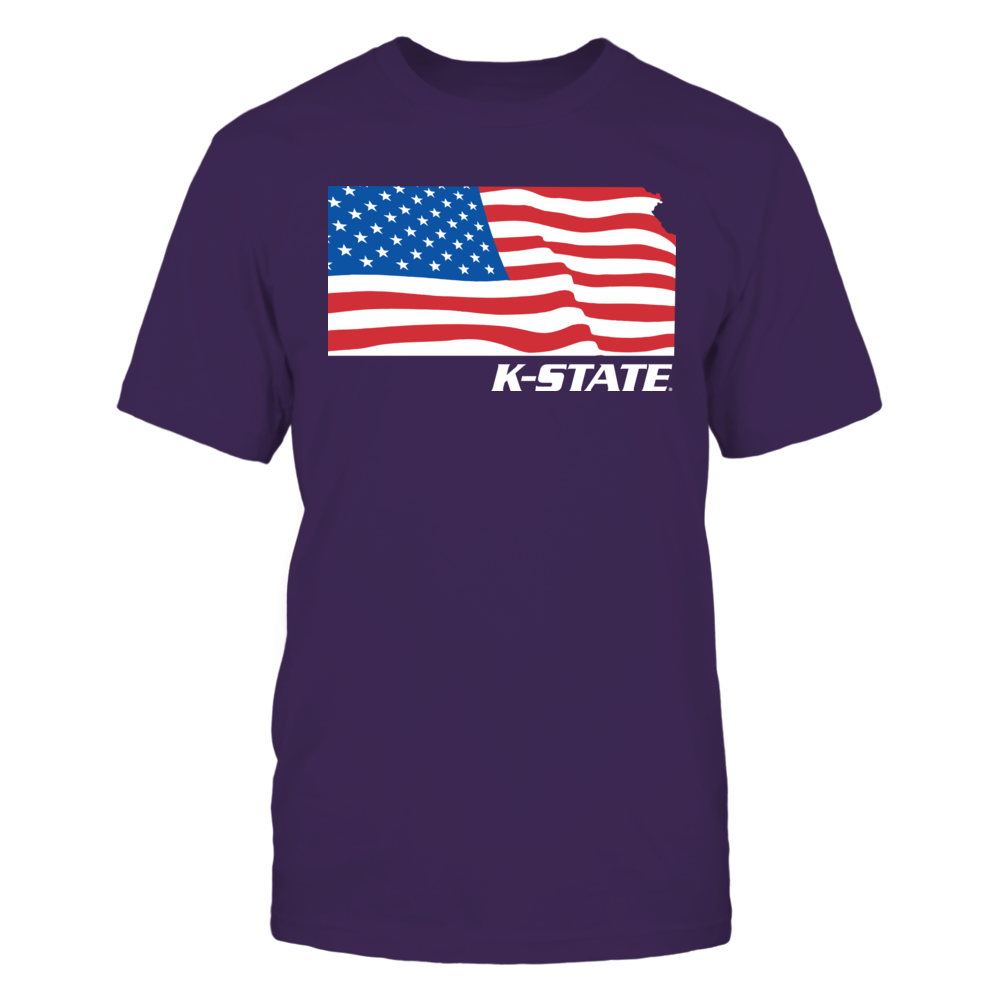 Kansas State Wildcats - Flag Pride Logo State Front picture