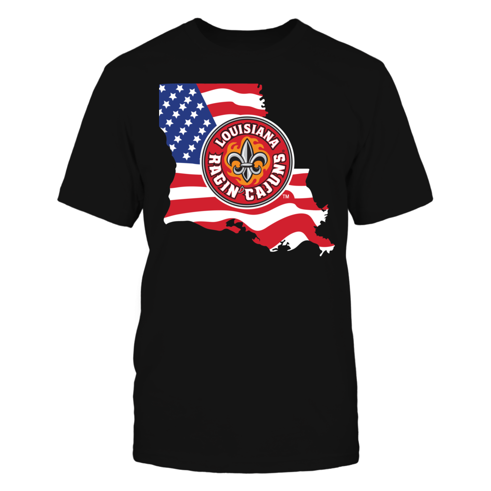 Louisiana-Lafayette Ragin Cajuns - Flag Pride Logo State Front picture