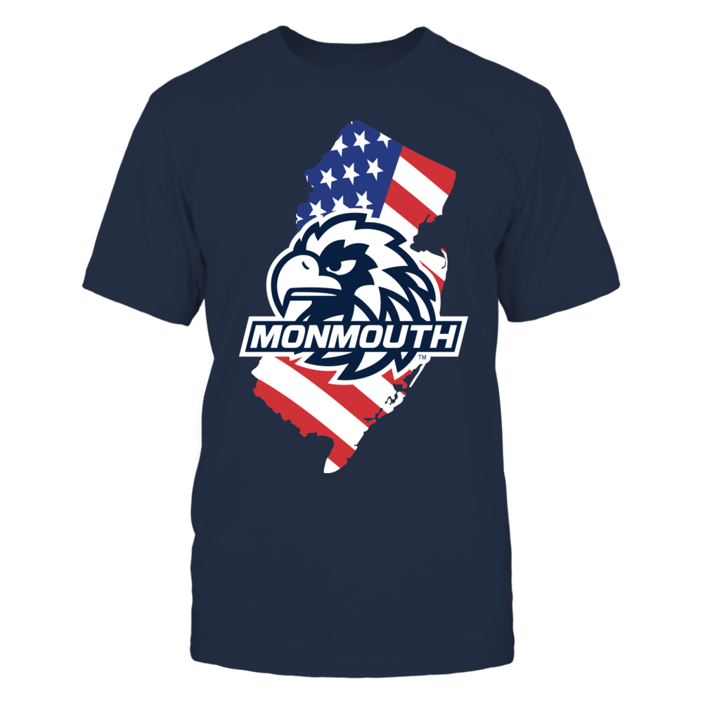Monmouth Hawks - Flag Pride Logo State Front picture