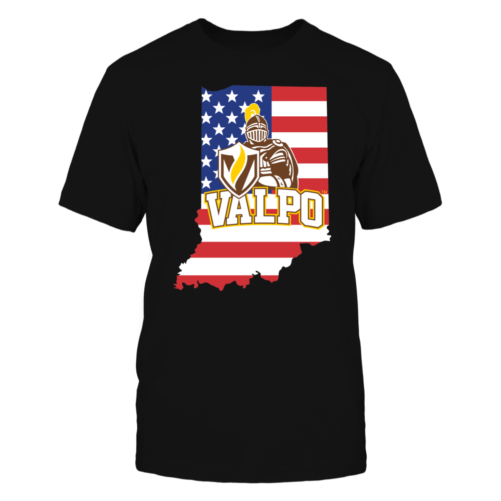 Valparaiso Crusaders - Flag Pride Logo State Front picture