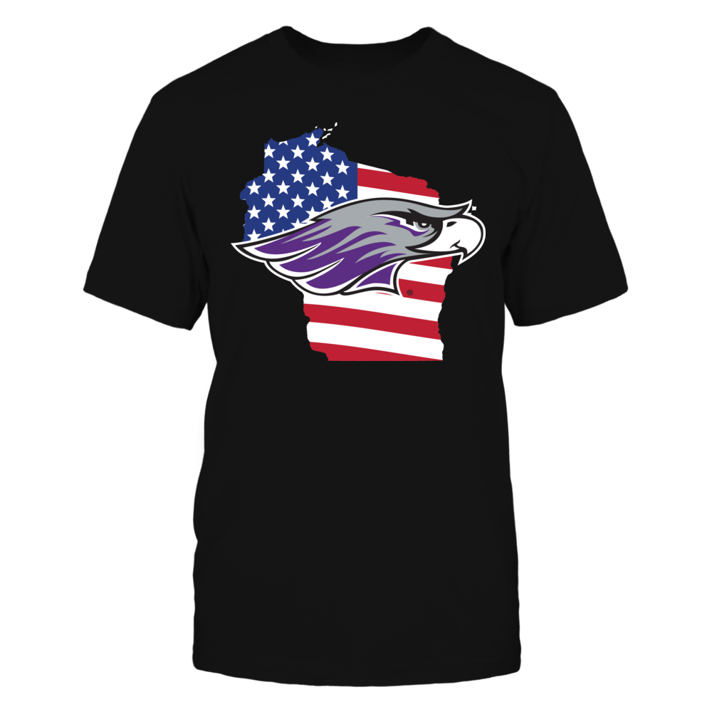 Wisconsin-Whitewater Warhawks - Flag Pride Logo State Front picture
