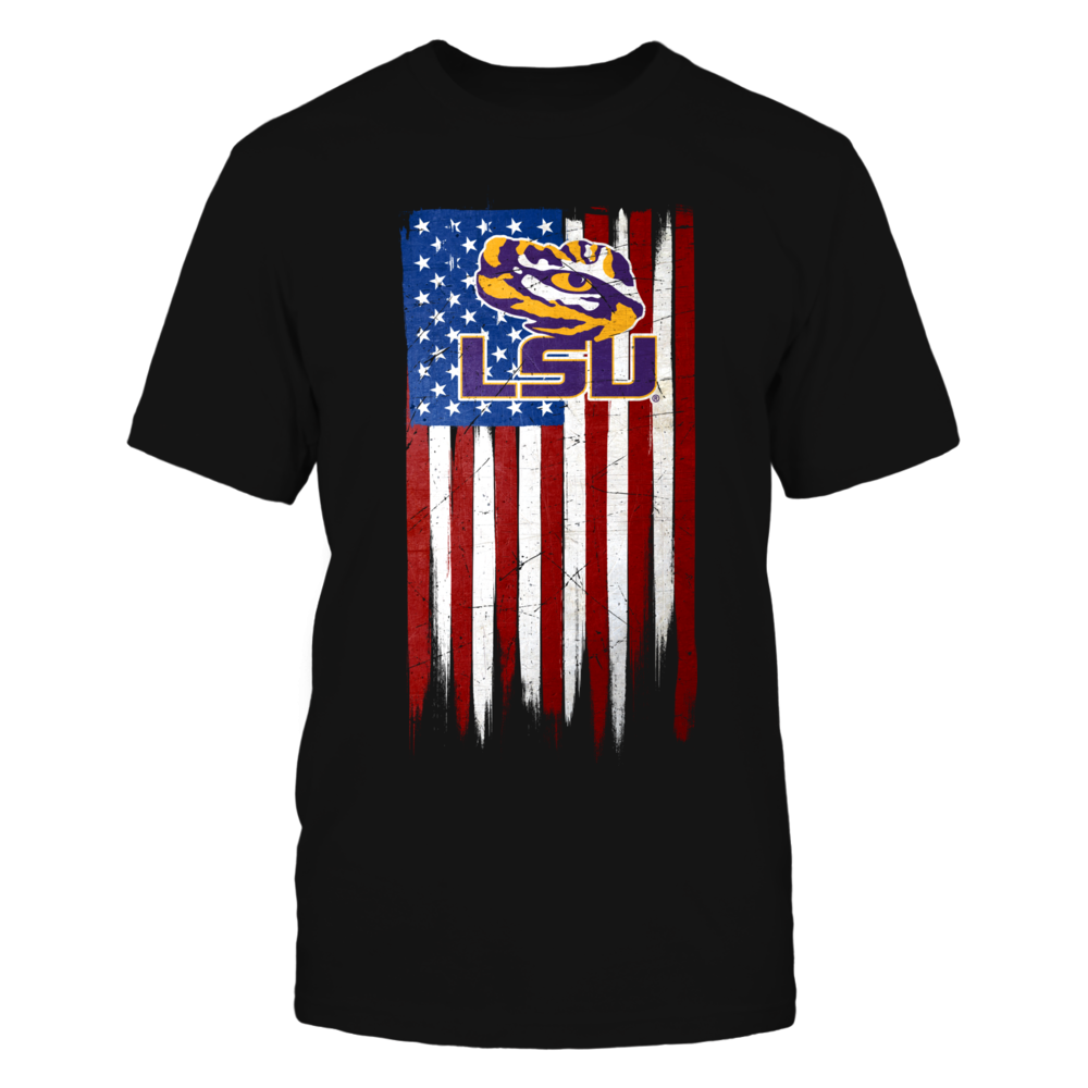 Grunge American Flag - LSU Tigers Front picture